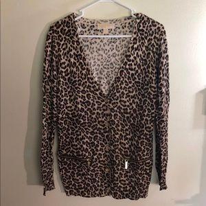 $$$PRICE DROP$$$ Michael Kors Cheetah Cardigan